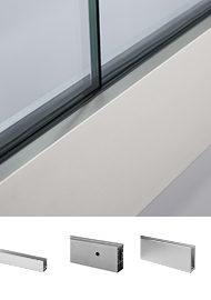 Aluminium channels for glass balustrades