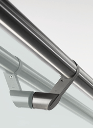 Handrail brackets for glass