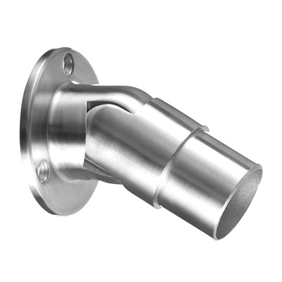 Wall flange, variable, (0°-50°), stainless steel 304 2 pcs. round round satin indoor 2 mm wall Wall flange, variable in tube Ø5 mm 0° - 50° Ø33,7 mm 26 mm 0506 Ø70 mm