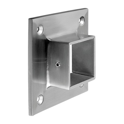 "Wall flange, Square Line, 2 pcs. rectangular rectangular indoor wall Wall flange at tube Ø5 mm 40x40 mm 4505 95x95 mm 2 pcs. 304 stainless steel satined Ø0.2"" 1.18\"" 1.57x1.57\"" 29 mm 3.74x3.74\"""