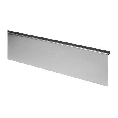 Cladding, Easy Glass Slim, top mount, inside, stainless steel 304 1 pc. satin indoor base shoe Cladding, Easy Glass Slim, top mount laminated backside 6904 2500 mm 124 mm 6921 20,76 - 21,52 mm