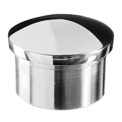 Arched end cap, stainless steel 316 2 pcs. round polished outdoor in tube Arched end cap round 2 mm Ø42,4 mm Ø42,4 mm 0729 9 mm