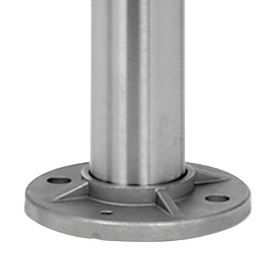 Baluster post, MOD 0914, Ø48,3 mm x 2 mm, stainless steel 316 1 pc. round satin outdoor floor Baluster post 2 mm Ø48,3 mm 970 mm Ø11 mm 0914