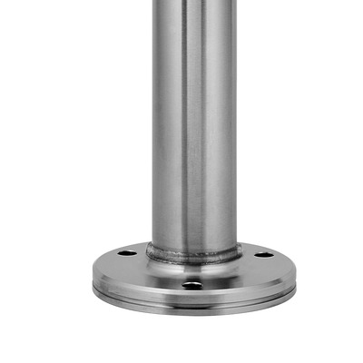 Baluster post, MOD 0917, Ø48,3 mm x 4,6 mm, stainless steel 316 1 pc. round satin outdoor floor Baluster post Ø48,3 mm Ø12 mm 4,6 mm 1089 mm 0917