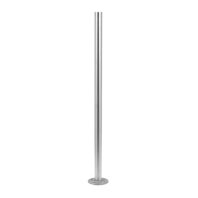 Baluster post, MOD 0921, Ø42,4 mm x 2 mm, stainless steel 316 1 pc. round satin outdoor floor Baluster post 2 mm Ø42,4 mm Ø11 mm 989 mm 0921