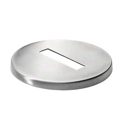 d line, cover cap for post, 54 mm x 12 mm, stainless steel 316 2 pcs. round satin outdoor at tube Cover cap dline 9030 8 mm Ø100 mm 54x12 mm