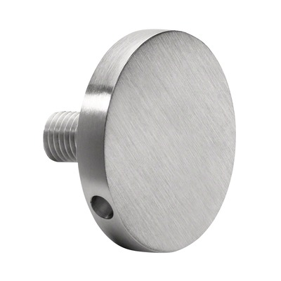 d line, glass adapter, Ø34 mm, stainless steel 316 2 pcs. round satin outdoor thread Glass adapter glass laminated/monolithic 6 mm Ø34 mm 12,76 - 17,52 mm 9050 M8x25