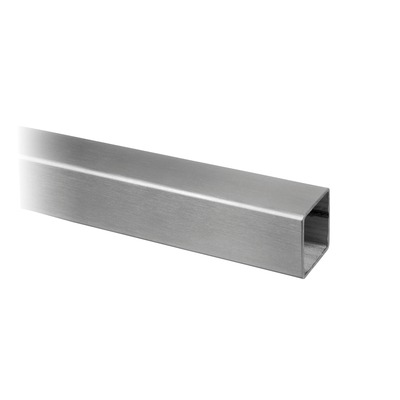 "Square tube, 40x40x2 mm, 1 pc. rectangular outdoor Tube 2 mm 40x40 mm 4900 5000 mm 16.4' 16.4' satined 316 stainless steel Ø0.078"" 1.57x1.57\"""