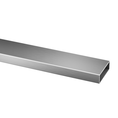 "Rectangular tube, 60x20x2 mm, 1 pc. rectangular outdoor Tube 2 mm 4925 60x20 mm 2500 mm satined 8.2' 8.2' 316 stainless steel Ø0.078"" 2.36x0.78\"""