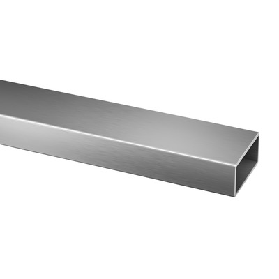"Rectangular tube, 60x30x2,6 mm, 1 pc. rectangular outdoor Tube 2,6 mm 4900 60x30 mm 5000 mm 16.4' 16.4' satined 316 stainless steel 2.36x1.18"" Ø0.1\"""