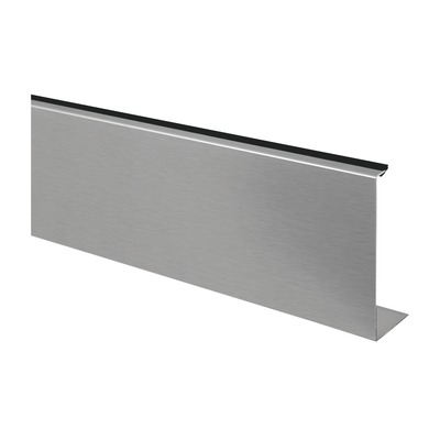 "Cladding, Easy Glass Slim, fascia mount, outside, 1 pc. outdoor base shoe frontside 6905 6920 5000 mm 16.4' 16.4' satined Cladding, Easy Glass Slim, Side Mount 316 stainless steel 48 mm 124 mm 4.88"" 1.89\"""