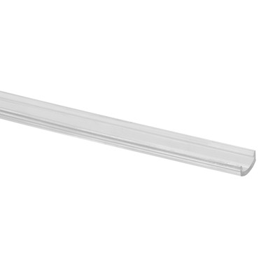"LED cover profile for LED girder sect., U=24x24mm, plastic 1 pc. clear outdoor LED girder section LED cover profile 5090 24 mm 2500 mm 8.2' 8.2' 11 mm 0.43"" 0.94\"""