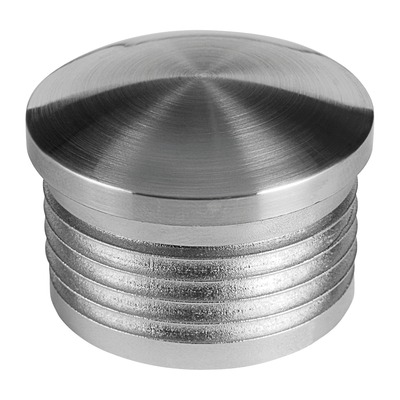 End cap, plastic 2 pcs. round stainless steel effect indoor in tube End cap round 2 mm Ø33,7 mm 8 mm Ø33,7 mm 5729