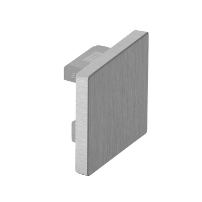 Flat end cap for cap rail, Easy Hit, square, aluminium 2 pcs. rectangular brushed, anodized outdoor cap rail End cap for cap rail, Easy Hit rectangular 1,5 mm 40x40 mm 5 mm 40x40 mm 6732