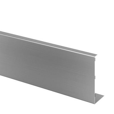 Cladding, Easy Glass Pro Inverse, fascia mount, aluminium 1 pc. brushed, anodized outdoor base shoe Cladding, Easy Glass Pro, fascia mount frontside 63 mm 5000 mm 6920 140,6 mm 6911
