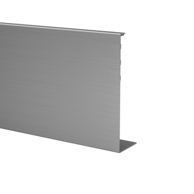 "Cladding, Easy Glass Prime ""Y"", fascia mount, aluminium 1 pc. outdoor base shoe frontside 6920 75 mm brushed, anodised 5000 mm 6963 238,5 mm Cladding, Easy Glass Prime ""Y"", fascia mount"