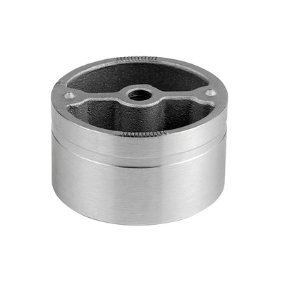 Adapter for wooden handrail Ø42 mm, stainless steel 304 2 pcs. round untreated indoor at tube Adapter for wooden handrail Ø5 mm round 22 mm Ø42 mm Ø42 mm 0792