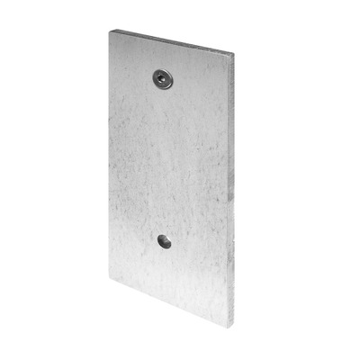Mounting plate, Easy Glass Slim, fascia mount, steel, zinc plated 1 pc. indoor/outdoor floor Mounting plate, Easy Glass Slim, fascia mount base shoe 12 mm 6905 150 mm 250 mm Ø17 mm 6951