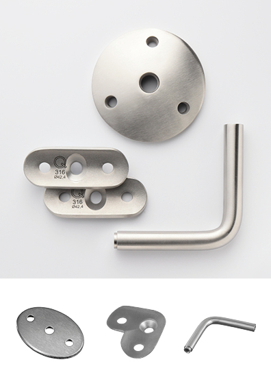 Handrail brackets single components