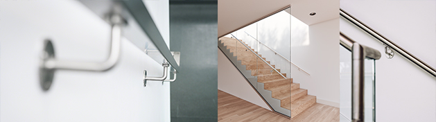 Handrail brackets for wall mounting