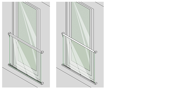 Juliet balcony Easy Glass MOD 6507-6508