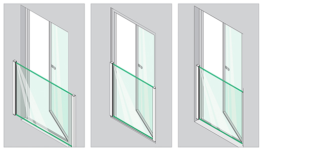 Mounting options Easy Glass View